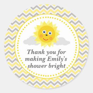 Sunshine Gift Favor Label Baby Shower Runder Aufkleber