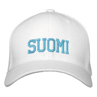 SUOMI (Finnland) Wolle-Kappe Bestickte Kappe