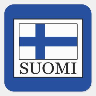 Suomi Quadratischer Aufkleber