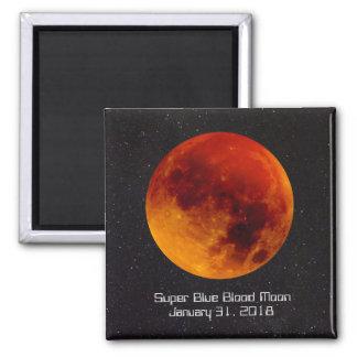 Super blaues Blut-Mond A 2018 seltenes und Quadratischer Magnet