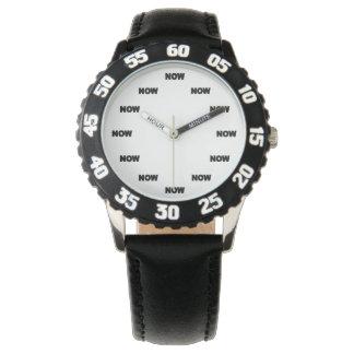 """Super cooles """"JETZT"""" (weißer Hintergrund) #11 Armbanduhr"""