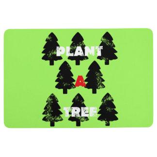 Super grüne Pflanze eine Baum-Boden-Matte Bodenmatte