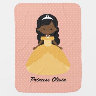 Super niedliche afroe-amerikanisch Prinzessin Kinderwagendecke