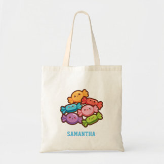 Super niedliche kawaii Regenbogen-Süßigkeiten Budget Stoffbeutel