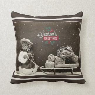Super niedliche Vintage Weihnachtskatze Kissen