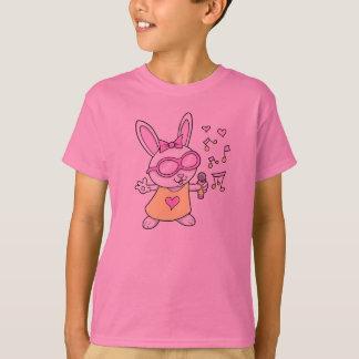 Super niedliches Gesang-Häschen-Kaninchen T-Shirt