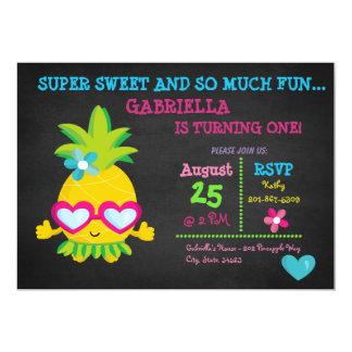 Super süße Ananas-erste Geburtstags-Einladung 12,7 X 17,8 Cm Einladungskarte