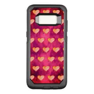 Super süßer vibrierender lila rosa Herz-MusterChic OtterBox Commuter Samsung Galaxy S8 Hülle