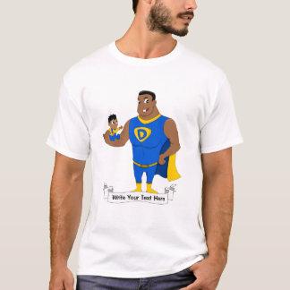 Superdad und ein Kind - Cartoon T-Shirt