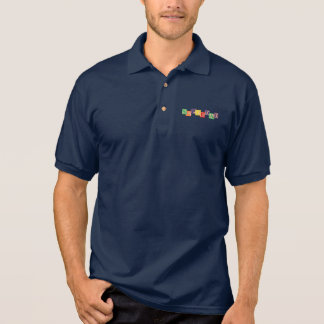 SUPERDAD Vintages hölzernes Block-Polo-Shirt Polo Shirt