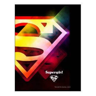 Supergirl buntes Logo Postkarte