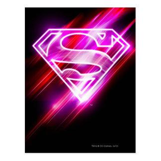 Supergirl Rosa Postkarte