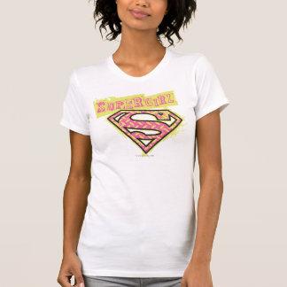 Supergirl Schmutz-Logo-Rosa T-Shirt