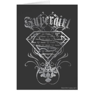 Supergirl silbernes Logo Karte