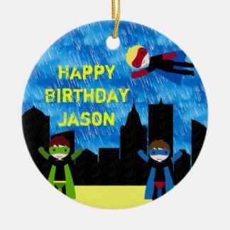 Superheld-Jungen Bithday Party Keramik Ornament