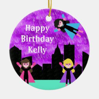 Superheld-Mädchen Bithday Party Keramik Ornament