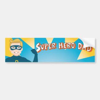 Superheld-Vati Auto Aufkleber