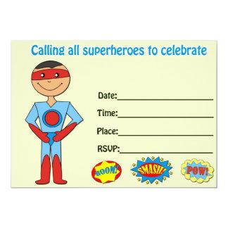 Superheldgeburtstagseinladung füllen freien Raum Karte