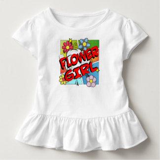 Superhero-Blumen-Mädchen Kleinkind T-shirt