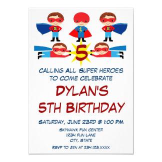 Superhero Comic Book Character Birthday Invitation Karte