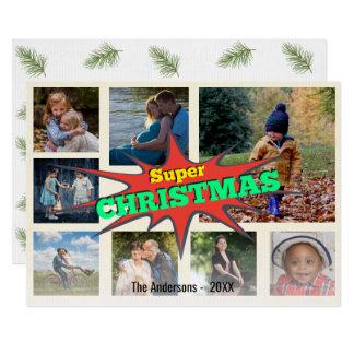 Superhero-Weihnachtssprache-Blasen-Foto-Collage 12,7 X 17,8 Cm Einladungskarte