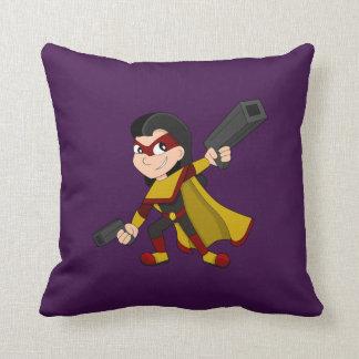 Superheromädchen-Cartoon Kissen