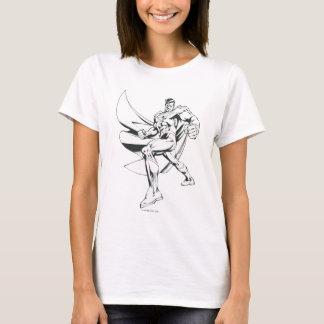 Superman 2 noirs et blancs t-shirt