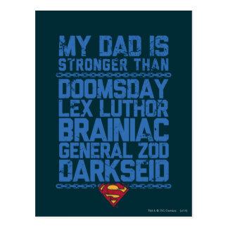 Superman - mon papa est plus fort que… carte postale