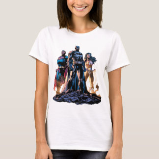 Supermann, Batman u. Wunder-Frauen-Dreiheit T-Shirt