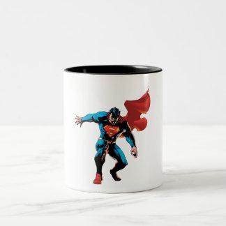 Supermann im Schatten Zweifarbige Tasse