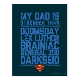 Supermann - mein Vati ist stärker als… Postkarte