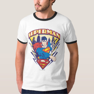 Supermann mit Strom T-Shirt