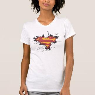 Supermann S-Schild | defektes Metalllogo T-Shirt