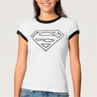 Supermann S-Schild | einfaches schwarzes T-Shirt
