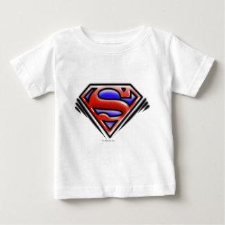 Supermann S-Schild | rotes Spritzpistolen-Logo Baby T-shirt