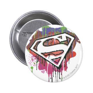 Supermann-stilisiertes | verdrehtes Unschulds-Logo Runder Button 5,7 Cm