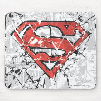 Supermann Stylized | zerknittertes Comic-Logo Mauspads