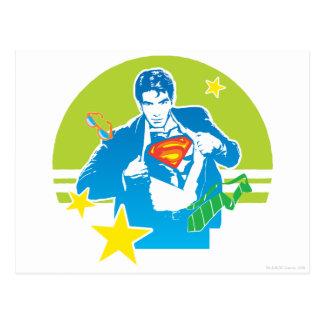 Supermannachtziger jahre Art Postkarte
