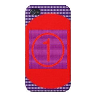 SUPERNumberone quadriert n-Runden für TEXT iPhone 4 Etuis