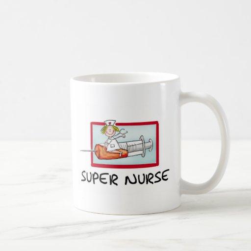 supernurse - infirmière humoristique de bande dess tasse