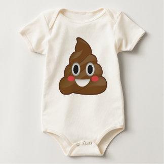 SuperPooper Emoji Poo Bio Baby-Anzug Baby Strampler