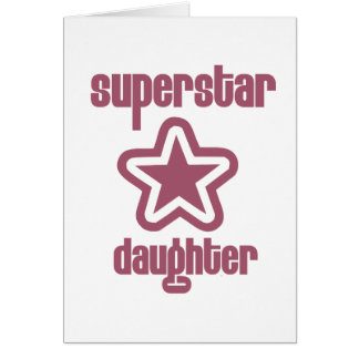 Superstar-Tochter Karte