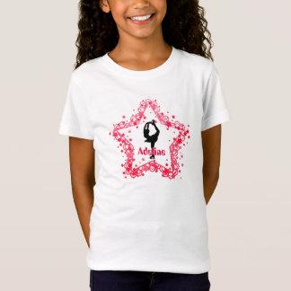 Superstern-Mädchen-Eis-Zahl Skaten personalisiert T-Shirt