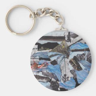 Supersturm Sandy-Collage Standard Runder Schlüsselanhänger