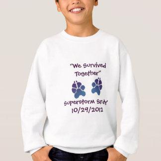 """Supersturm Sandy """"wir überlebten zusammen"""" Jungen Sweatshirt"""