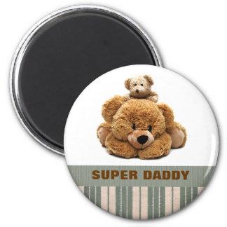 Supervati. Der Vatertags-Geschenk-Magneten Runder Magnet 5,7 Cm
