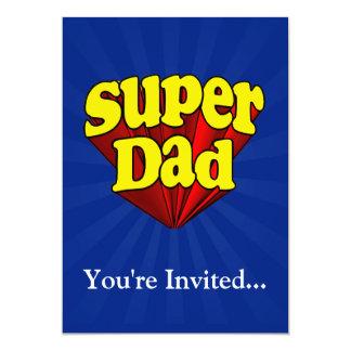 Supervati, Superheld rot/Gelb/der blaue Vatertag 12,7 X 17,8 Cm Einladungskarte
