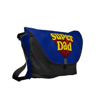 Supervati, Superheld rot/Gelb/der blaue Vatertag Kuriertasche