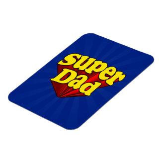 Supervati, Superheld rot/Gelb/der blaue Vatertag Flexibler Magnet