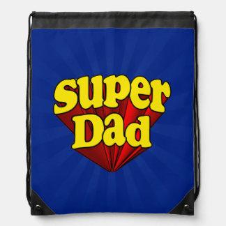 Supervati, Superheld rot/Gelb/der blaue Vatertag Turnbeutel